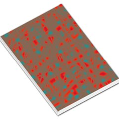Red and brown Large Memo Pads