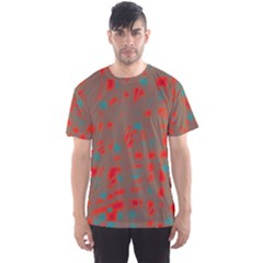 Red and brown Men s Sport Mesh Tee