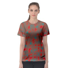 Red and brown Women s Sport Mesh Tee