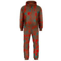 Red and brown Hooded Jumpsuit (Men)