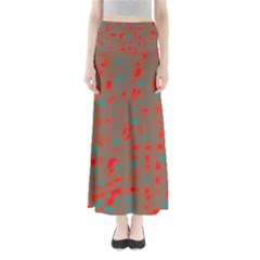 Red And Brown Maxi Skirts