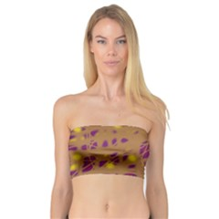 Brown And Purple Bandeau Top