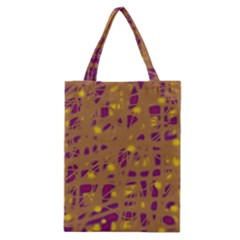 Brown and purple Classic Tote Bag