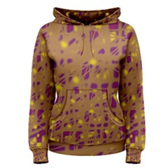 Brown and purple Women s Pullover Hoodie