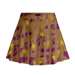 Brown and purple Mini Flare Skirt