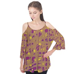 Brown and purple Flutter Tees