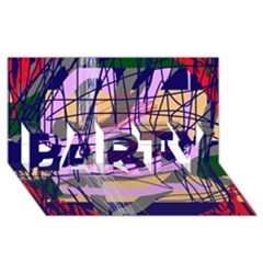 Abstract high art by Moma PARTY 3D Greeting Card (8x4)