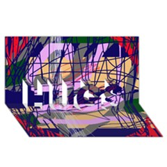 Abstract high art by Moma HUGS 3D Greeting Card (8x4)