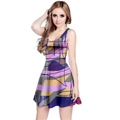 Abstract high art by Moma Reversible Sleeveless Dress