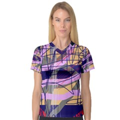 Abstract high art by Moma Women s V-Neck Sport Mesh Tee