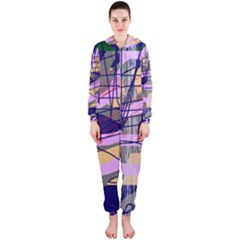 Abstract high art by Moma Hooded Jumpsuit (Ladies)