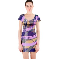 Abstract high art by Moma Short Sleeve Bodycon Dress