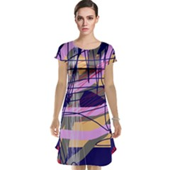 Abstract high art by Moma Cap Sleeve Nightdress