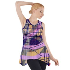 Abstract High Art By Moma Side Drop Tank Tunic
