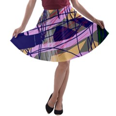 Abstract high art by Moma A-line Skater Skirt