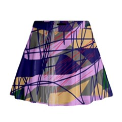 Abstract high art by Moma Mini Flare Skirt