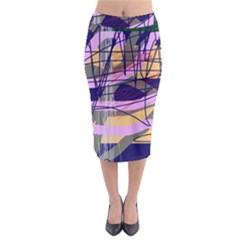 Abstract high art by Moma Midi Pencil Skirt