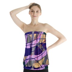 Abstract high art by Moma Strapless Top