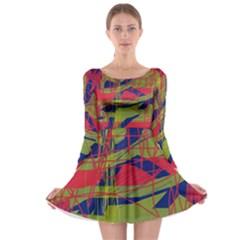 High art by Moma Long Sleeve Skater Dress