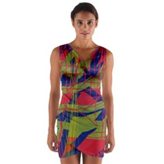 High Art By Moma Wrap Front Bodycon Dress