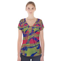 High art by Moma Short Sleeve Front Detail Top