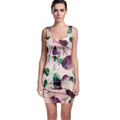 Spiral Eucalyptus Leaves Bodycon Dress