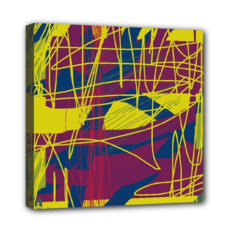 Yellow high art abstraction Mini Canvas 8  x 8