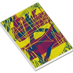 Yellow high art abstraction Large Memo Pads