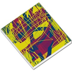 Yellow high art abstraction Small Memo Pads