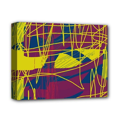 Yellow high art abstraction Deluxe Canvas 14  x 11
