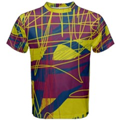 Yellow high art abstraction Men s Cotton Tee