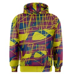Yellow high art abstraction Men s Pullover Hoodie