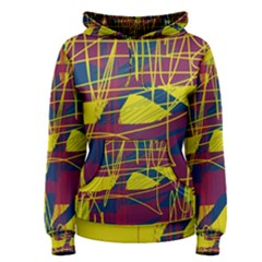 Yellow high art abstraction Women s Pullover Hoodie