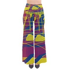 Yellow high art abstraction Pants