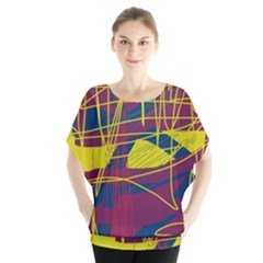 Yellow high art abstraction Blouse