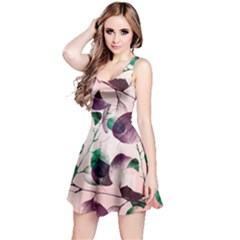 Spiral Eucalyptus Leaves Reversible Sleeveless Dress