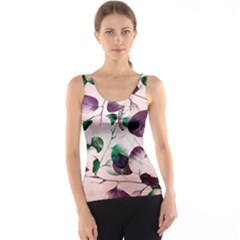 Spiral Eucalyptus Leaves Tank Top
