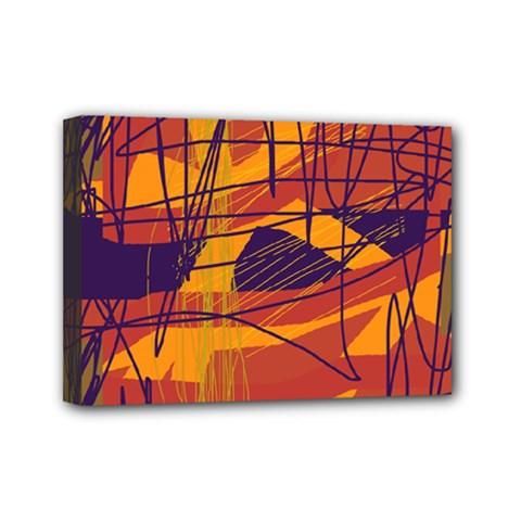 Orange high art Mini Canvas 7  x 5