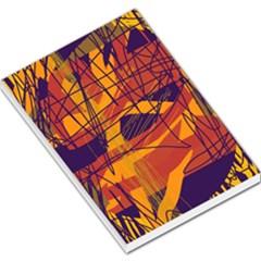 Orange high art Large Memo Pads