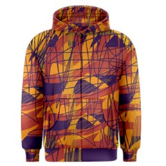 Orange high art Men s Zipper Hoodie