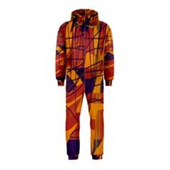 Orange high art Hooded Jumpsuit (Kids)