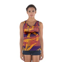 Orange High Art Women s Sport Tank Top