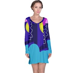 Walking on the clouds  Long Sleeve Nightdress