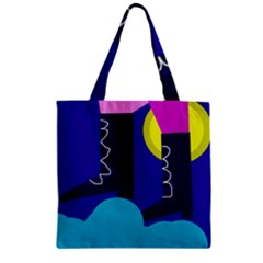 Walking on the clouds  Zipper Grocery Tote Bag