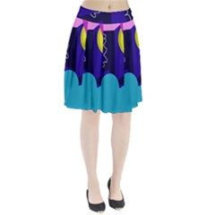 Walking on the clouds  Pleated Skirt
