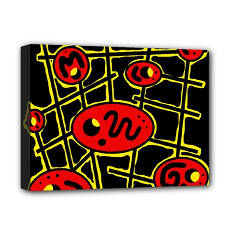 Red and yellow hot design Deluxe Canvas 16  x 12