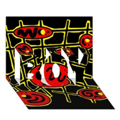 Red and yellow hot design BOY 3D Greeting Card (7x5)