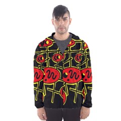Red and yellow hot design Hooded Wind Breaker (Men)