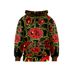 Red and yellow hot design Kids  Zipper Hoodie