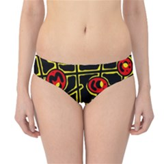 Red and yellow hot design Hipster Bikini Bottoms